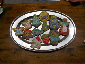 Our home made cookie tradition: (sometimes ridiculously) decorate & deliver to neighbors
