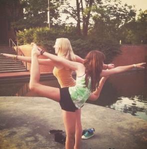 Anna & Renee yoga