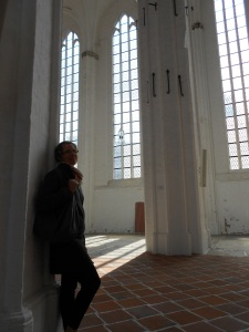 Mollie at a cathedral in Germany
