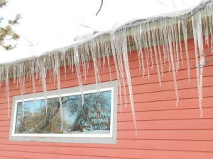 The photos in the post are recent icicles in my neighborhood.