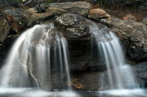 waterfall, photographed by Lee Freeman