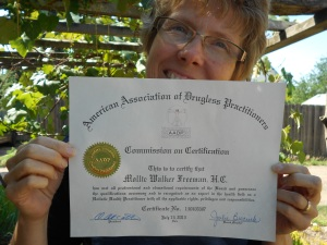 My certification from the American Association of Drugless Practitioners!
