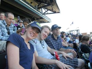 My kids at a baseball game- now that's a good use of time!