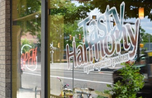 Tasty Harmony's front window