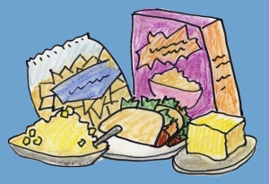 Offending foods seem to be everywhere - illustration by Mollie Walker Freeman
