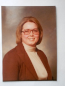 One of the few photos of my mom in the 1970s. The glasses were actually considered stylish.