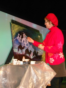 I painted at a Christmas Tea, and enjoyed all sorts of holiday activities.