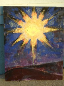 """Star of Bethlehem""- painted during service at Resurrection Fellowship by Mollie Walker Freeman"